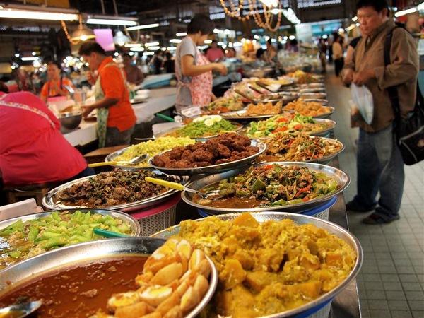 Khu ẩm thực tại Thái Lan