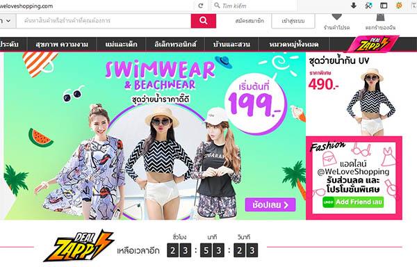 order hàng Thái Lan trực tuyến