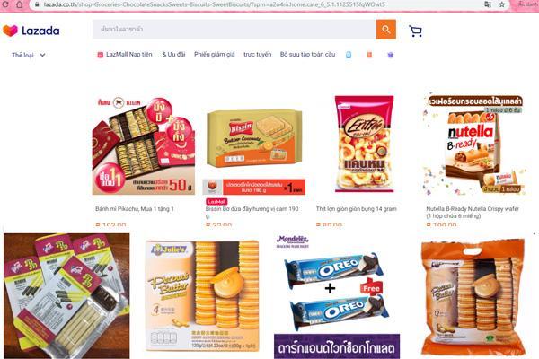 Lazada, shopee có bán bánh Thái Lan
