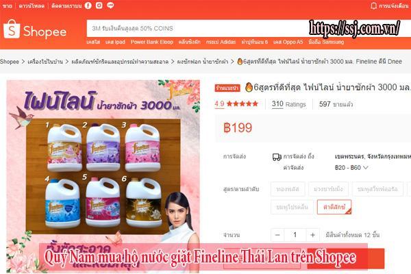 Quý Nam mua sỉ nước giặt Fineline Thái Lan trên Shopee