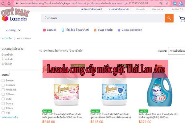Lazada cung cấp nước giặt Thái Lan