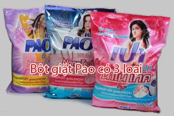 Bột giặt Pao Thái Lan có 3 loại