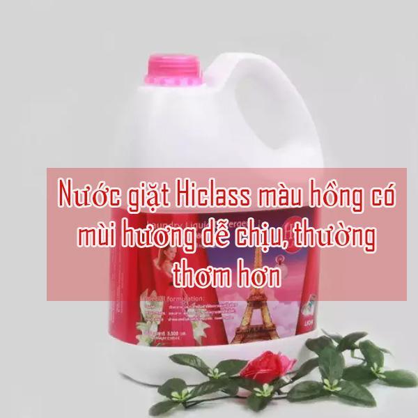 nước giặt Hiclass màu hồng sẽ thơm hơn