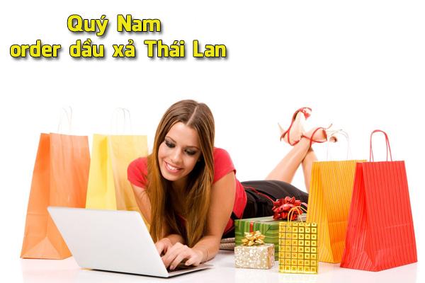 Quý Nam order dầu xả Thái Lan